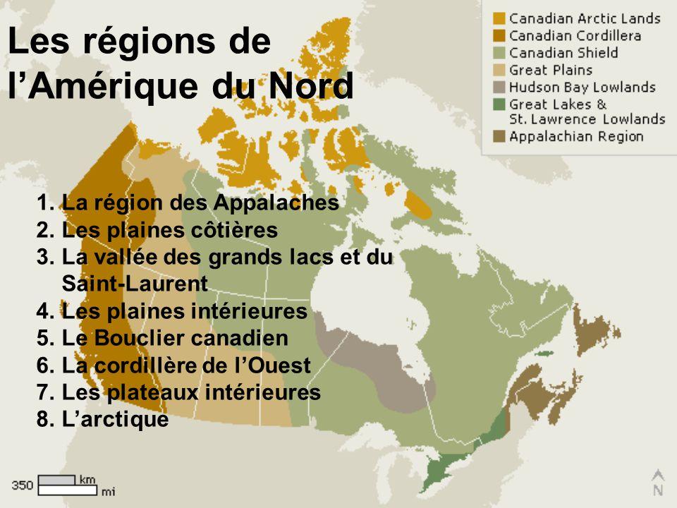 Les régions de l'Amérique du Nord