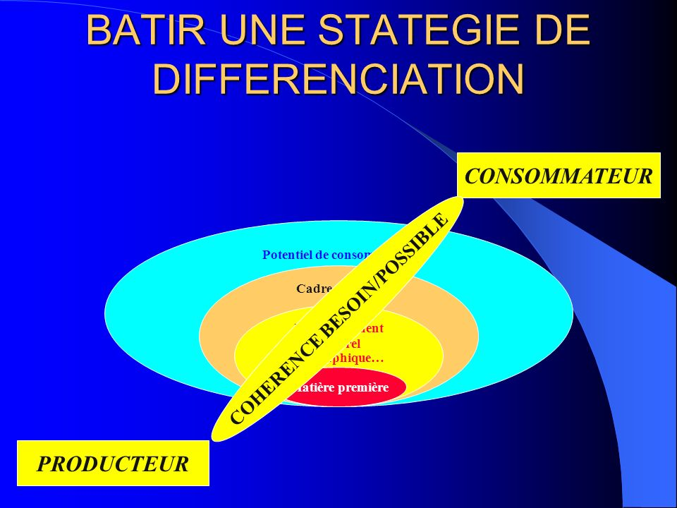 BATIR UNE STATEGIE DE DIFFERENCIATION