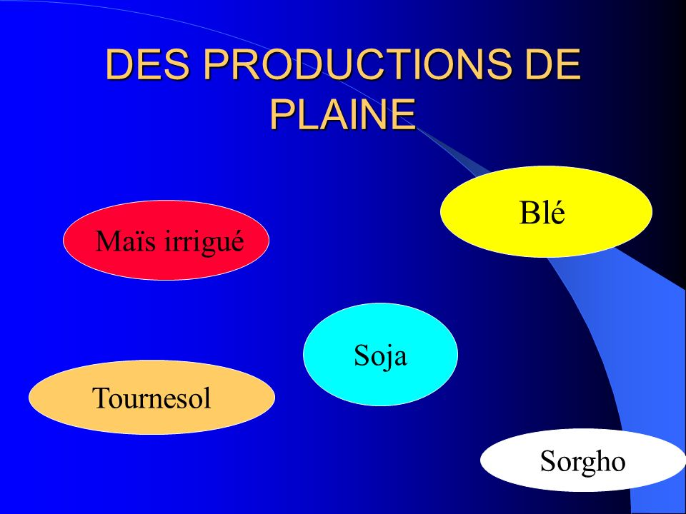 DES PRODUCTIONS DE PLAINE