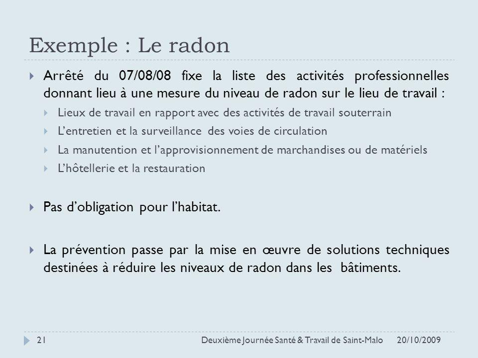 Exemple : Le radon