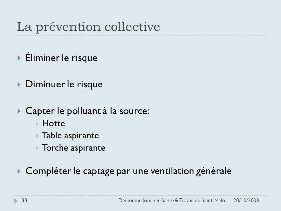 La prévention collective