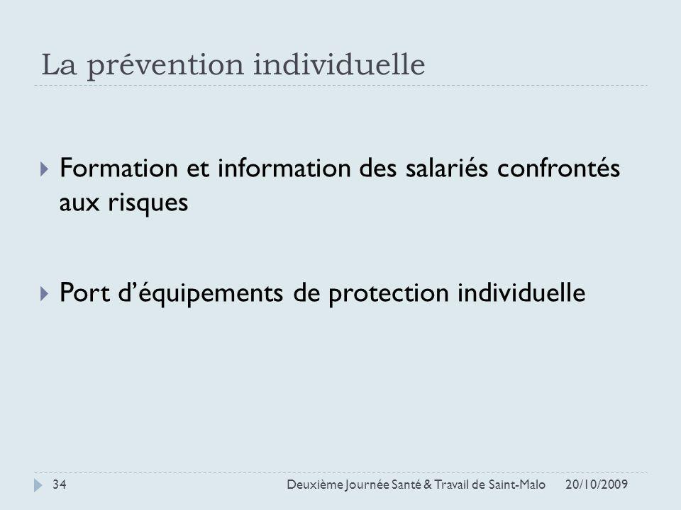 La prévention individuelle