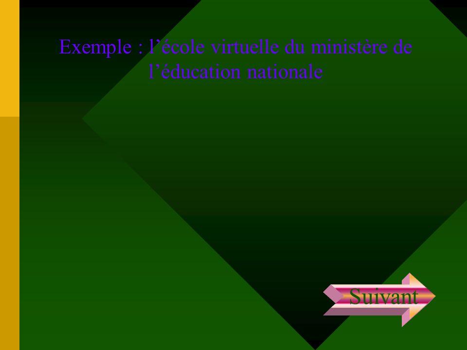Exemple : l'école virtuelle du ministère de l'éducation nationale