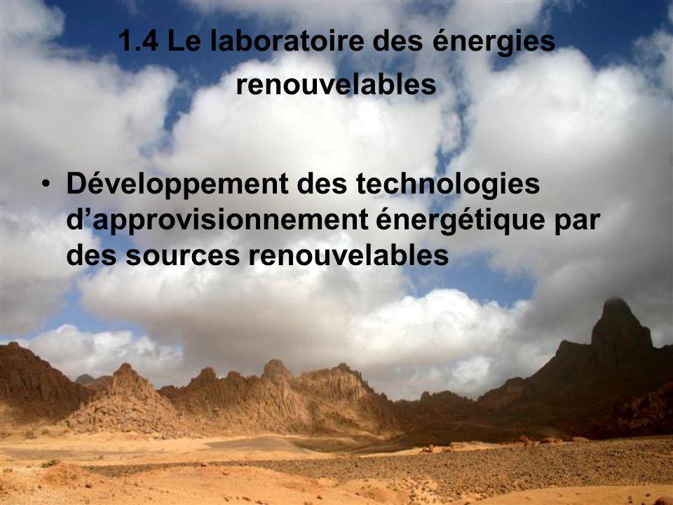 1.4 Le laboratoire des énergies renouvelables