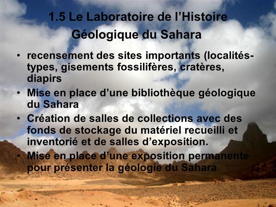 1.5 Le Laboratoire de l'Histoire Géologique du Sahara