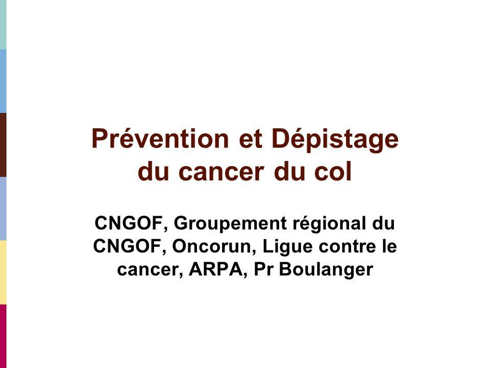Prévention et Dépistage du cancer du col