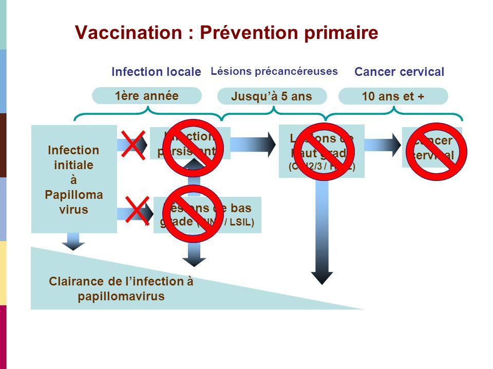Vaccination : Prévention primaire