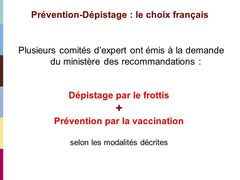 Prévention-Dépistage : le choix français