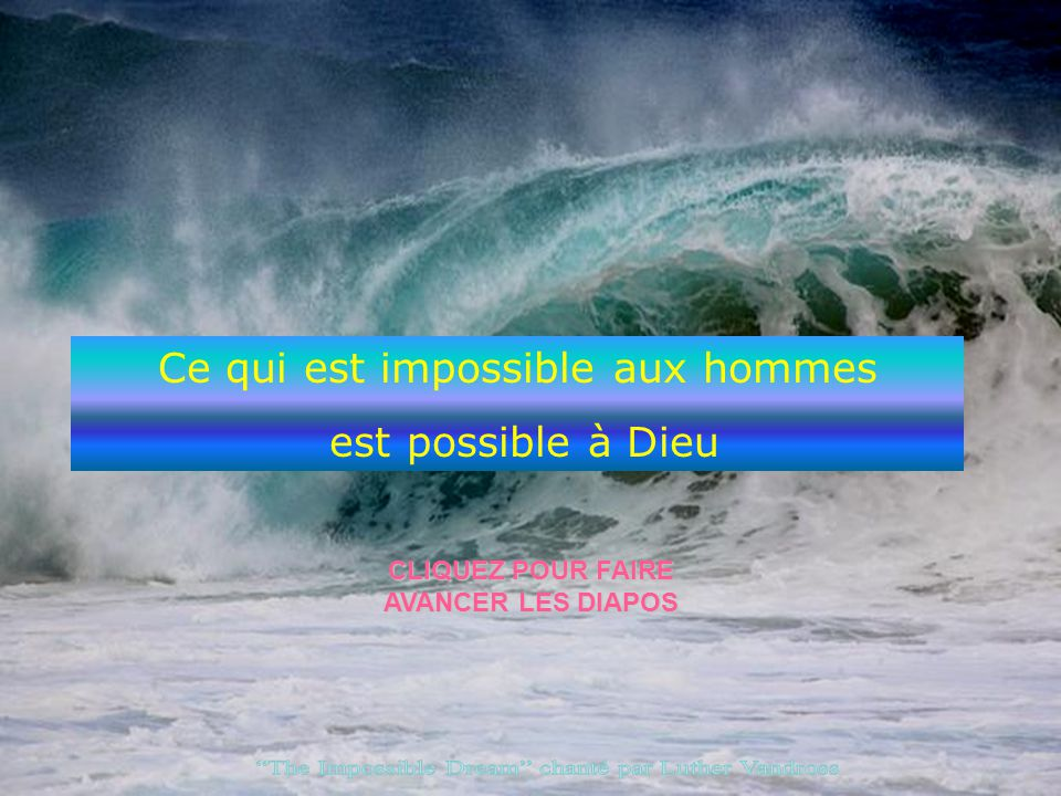 The Impossible Dream chanté par Luther Vandross