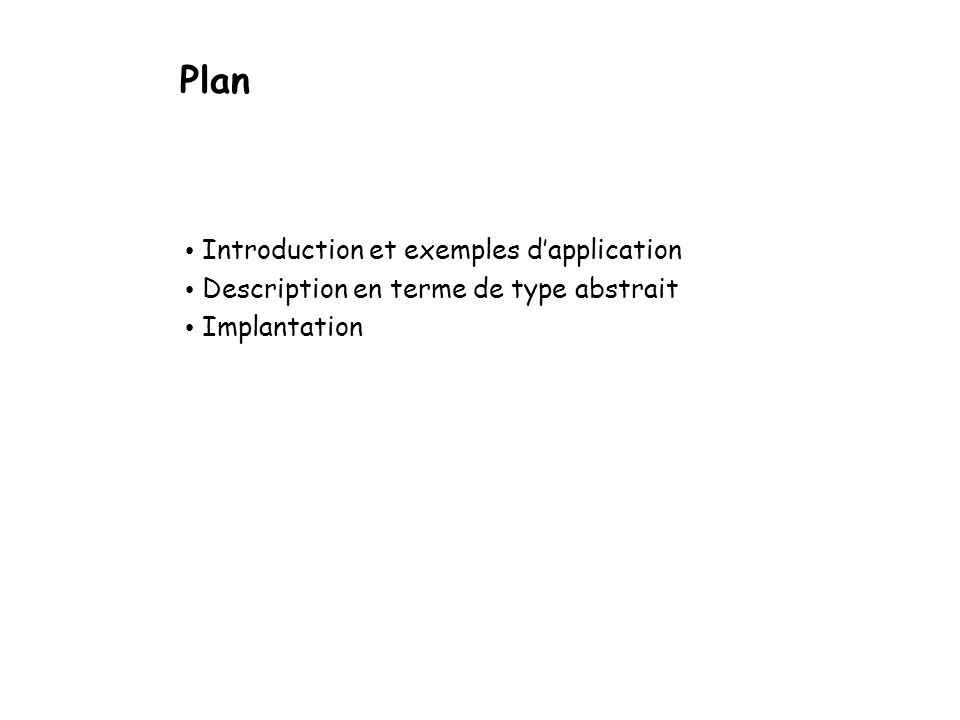 Plan Introduction et exemples d'application