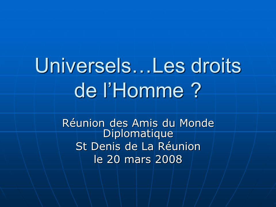 Universels…Les droits de l'Homme