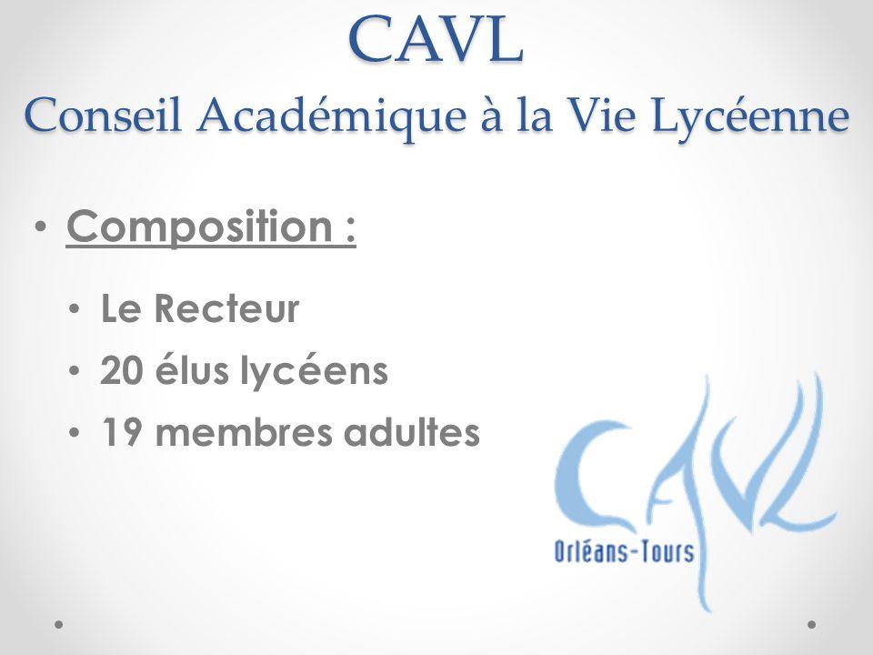 CAVL Conseil Académique à la Vie Lycéenne