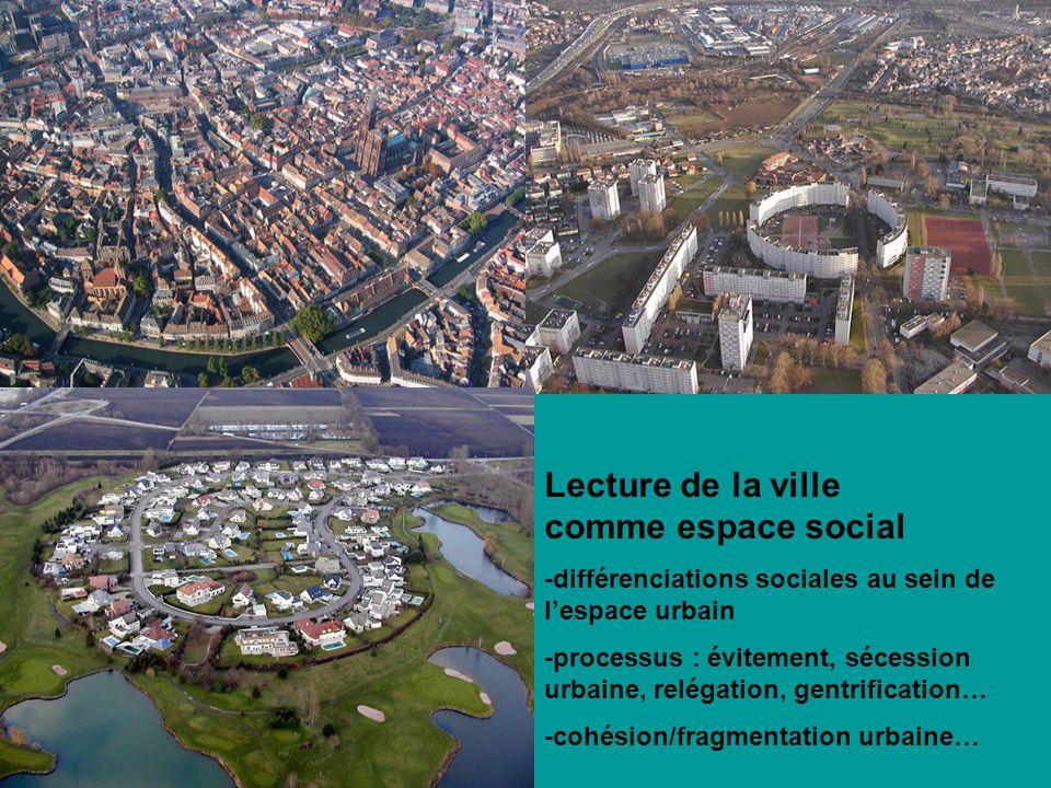 Lecture de la ville comme espace social