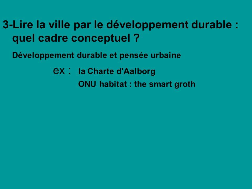 3-Lire la ville par le développement durable : quel cadre conceptuel