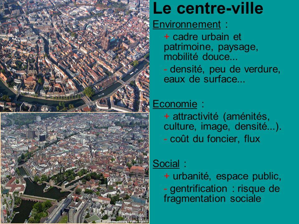 Le centre-ville Environnement :