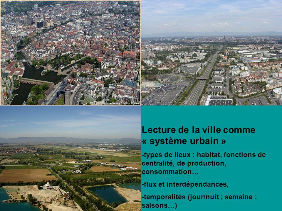 Lecture de la ville comme « système urbain »