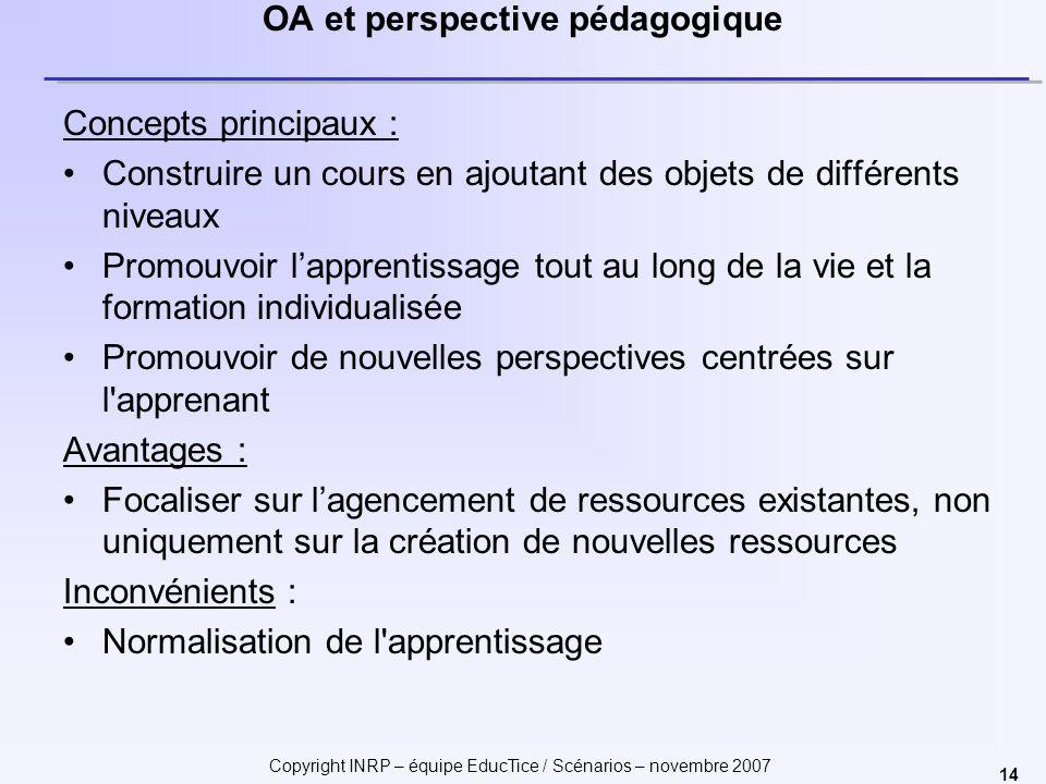 OA et perspective pédagogique