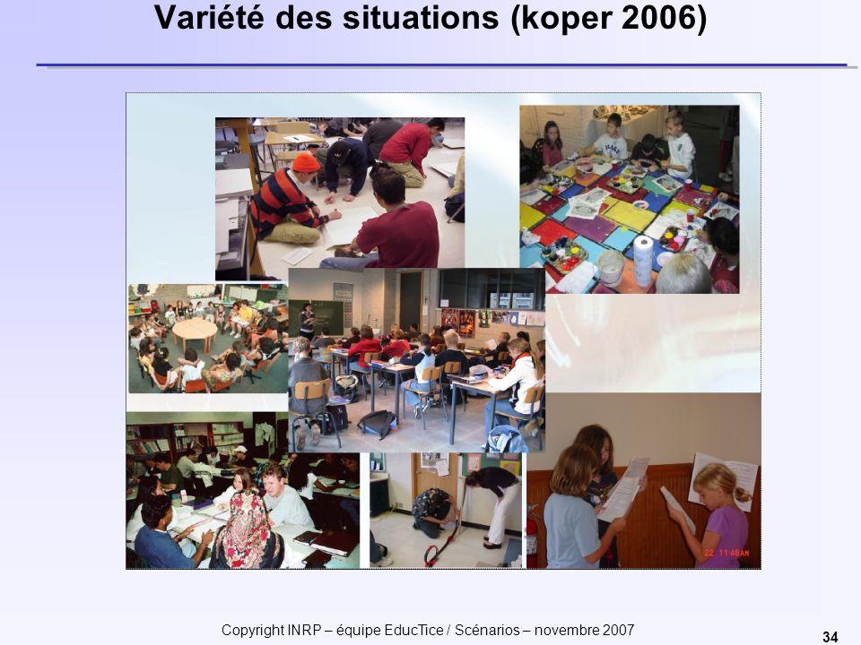 Variété des situations (koper 2006)