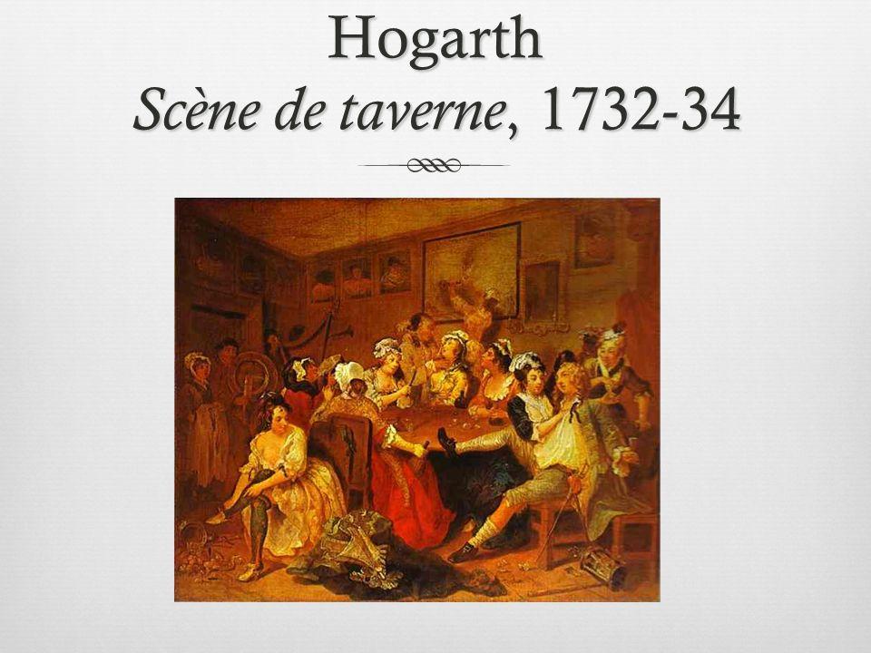 Hogarth Scène de taverne, 1732-34