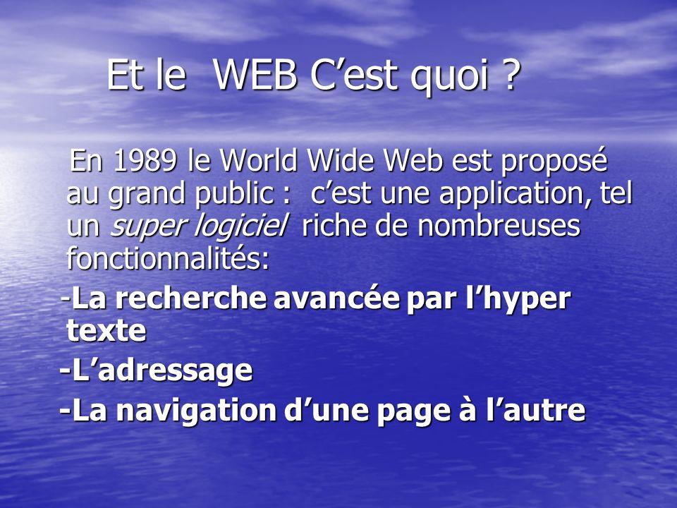 Et le WEB C'est quoi