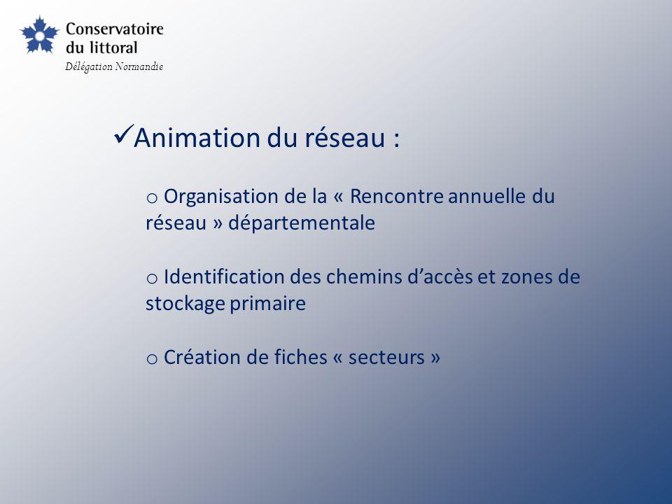 Délégation Normandie Animation du réseau : Organisation de la « Rencontre annuelle du réseau » départementale.