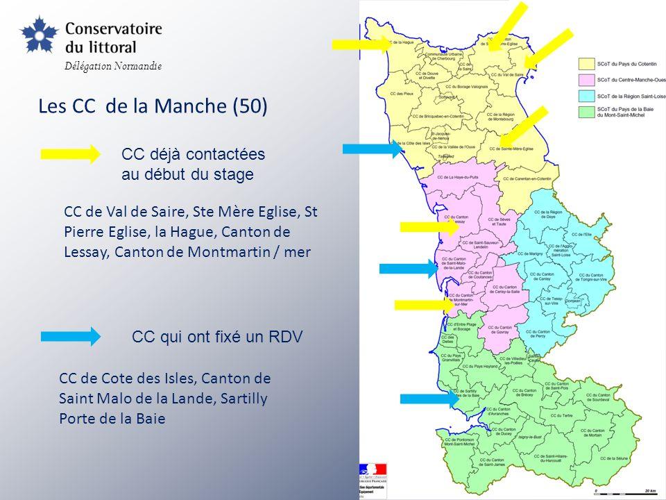 Les CC de la Manche (50) CC déjà contactées au début du stage