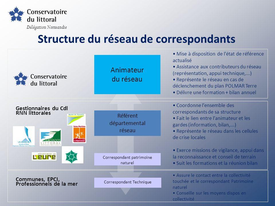 Structure du réseau de correspondants