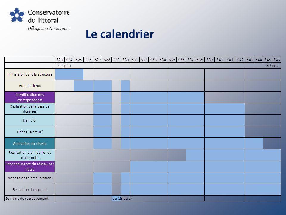 Délégation Normandie Le calendrier