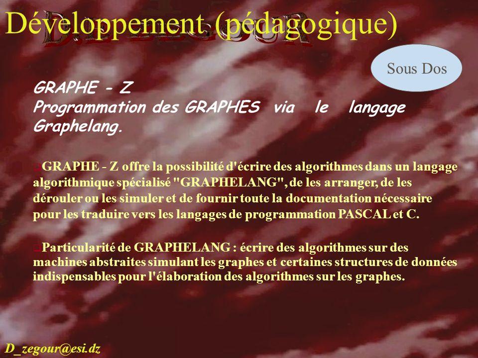 D.E ZEGOUR www.multimania.com/zegour