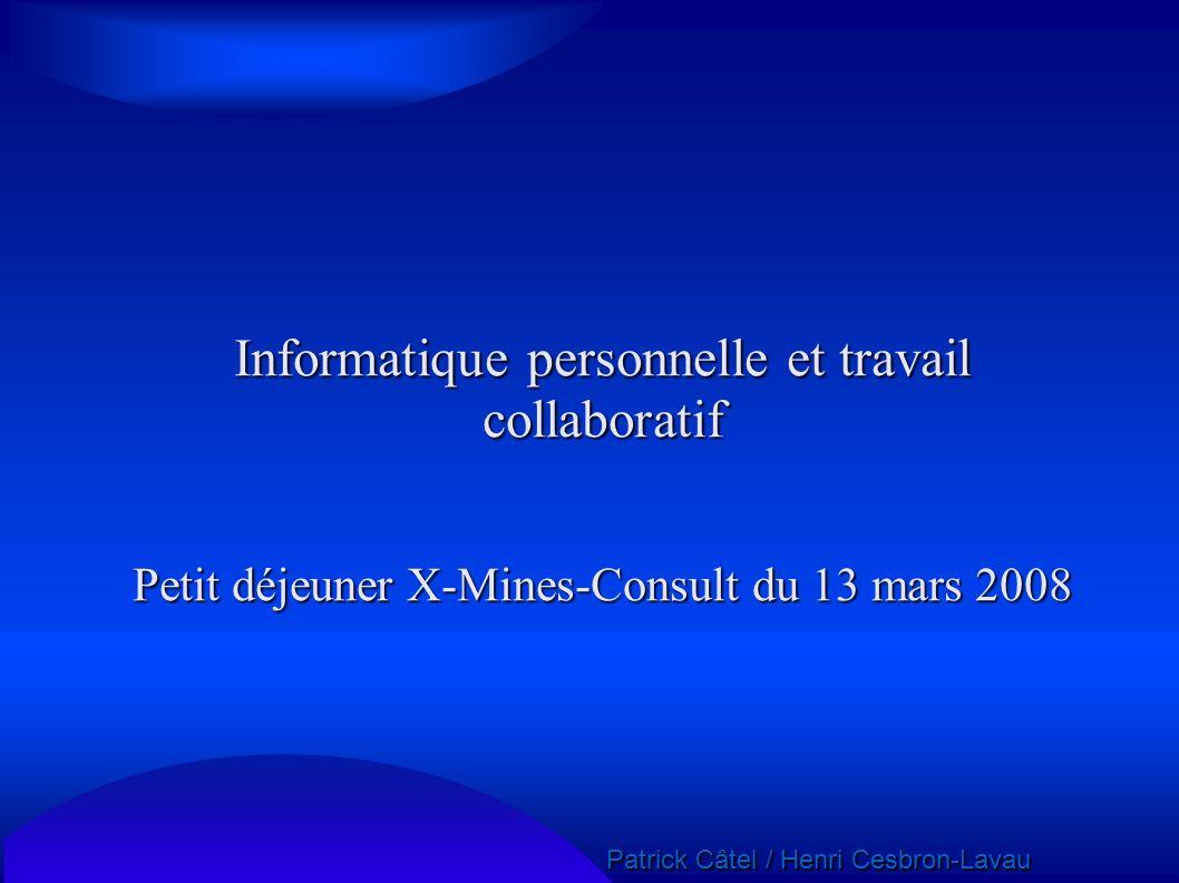 Informatique personnelle et travail collaboratif