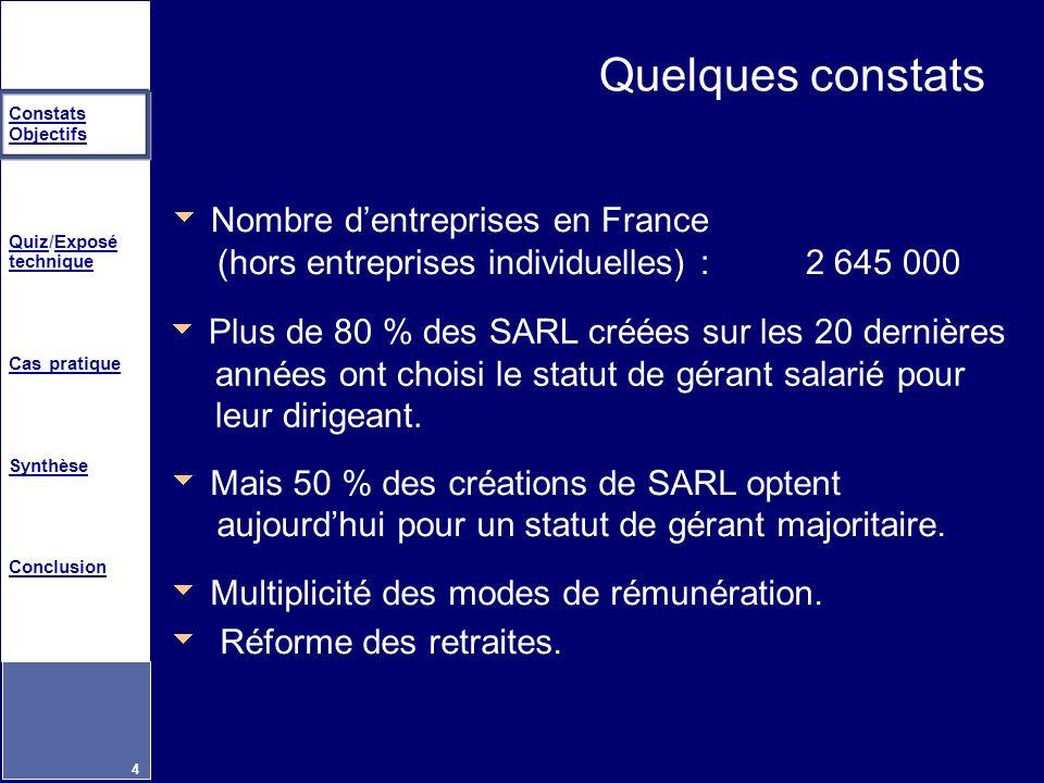 Quelques constats Nombre d'entreprises en France