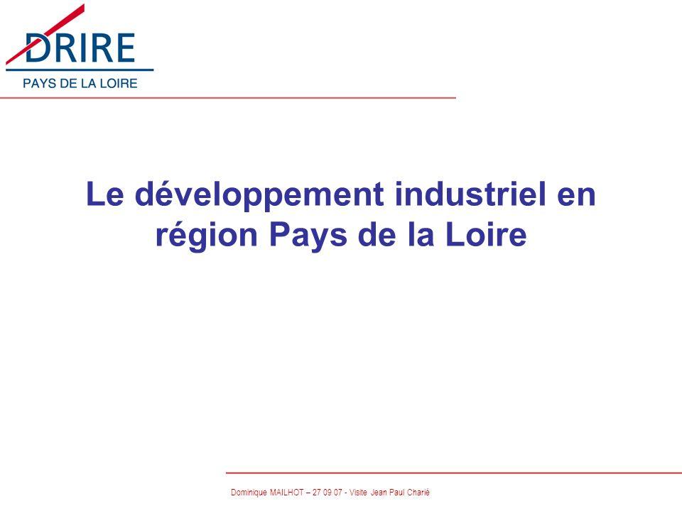 Le développement industriel en région Pays de la Loire