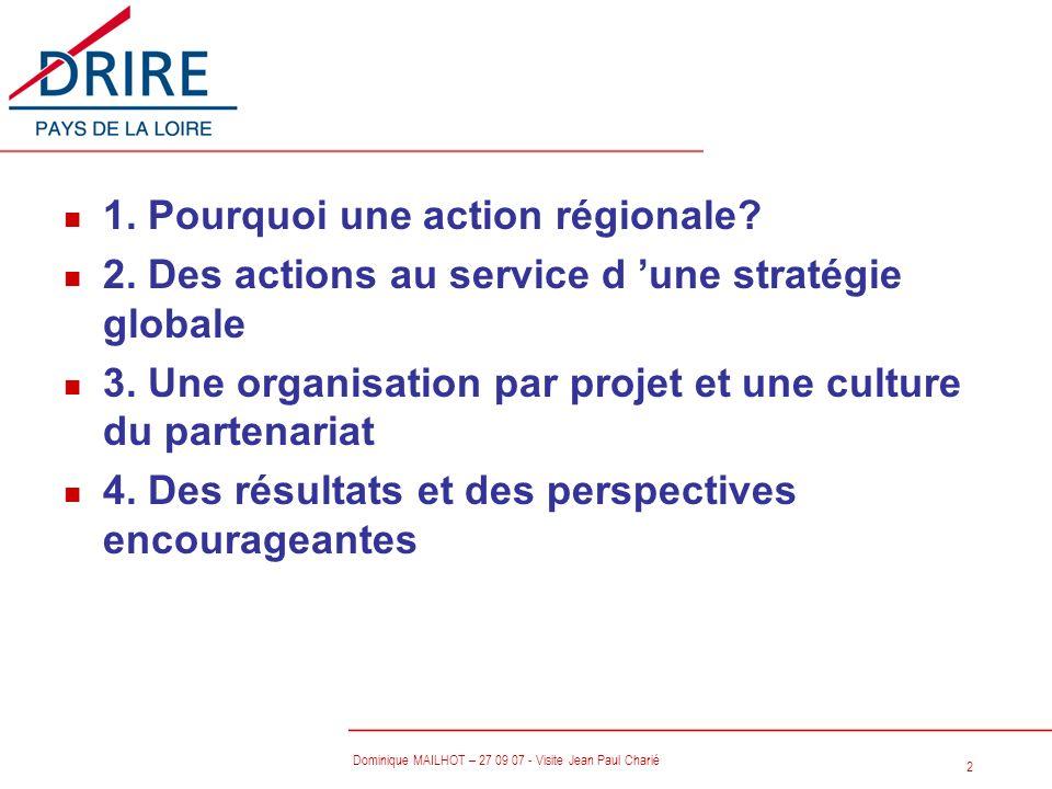 1. Pourquoi une action régionale
