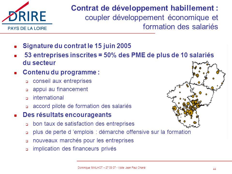 Contrat de développement habillement : coupler développement économique et formation des salariés