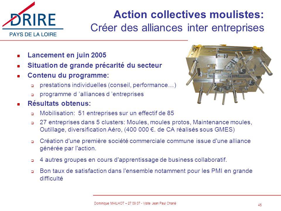 Action collectives moulistes: Créer des alliances inter entreprises