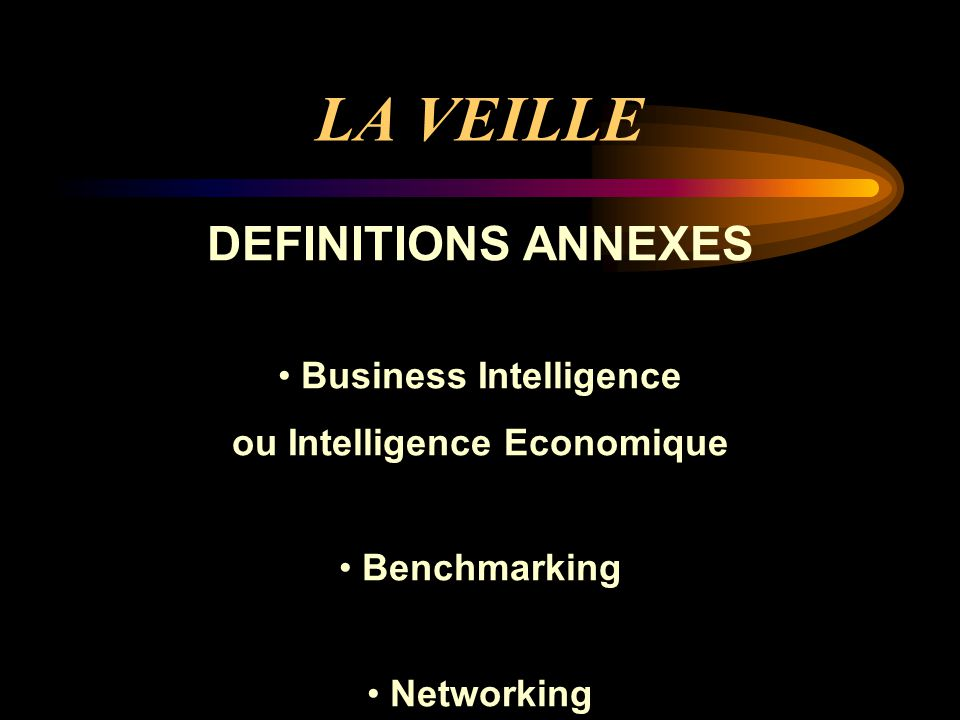 Business Intelligence ou Intelligence Economique