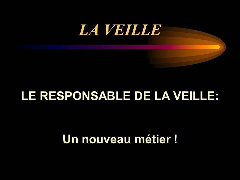 LE RESPONSABLE DE LA VEILLE: