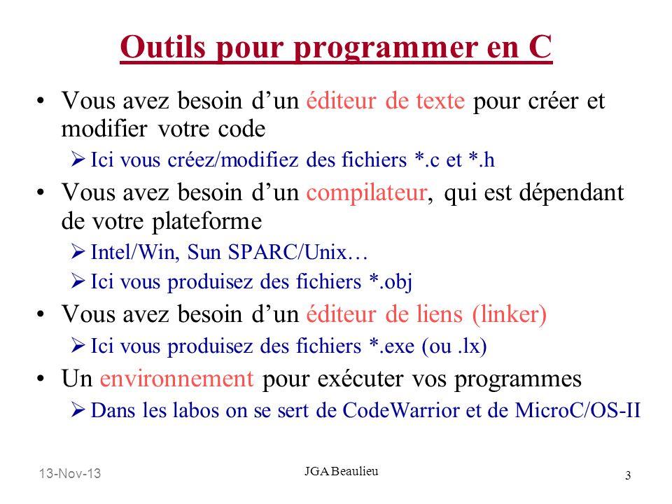 Outils pour programmer en C