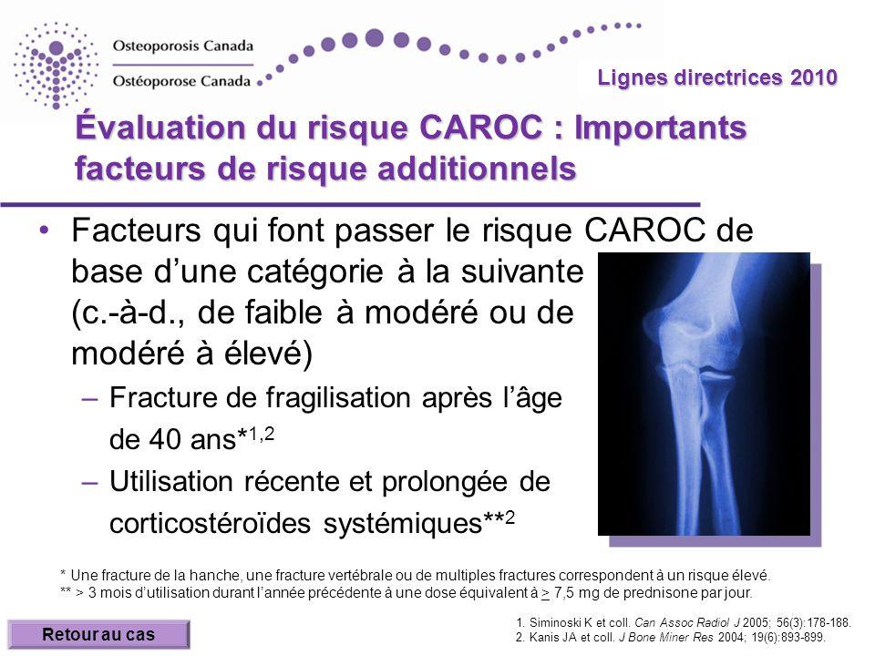 Évaluation du risque CAROC : Importants facteurs de risque additionnels