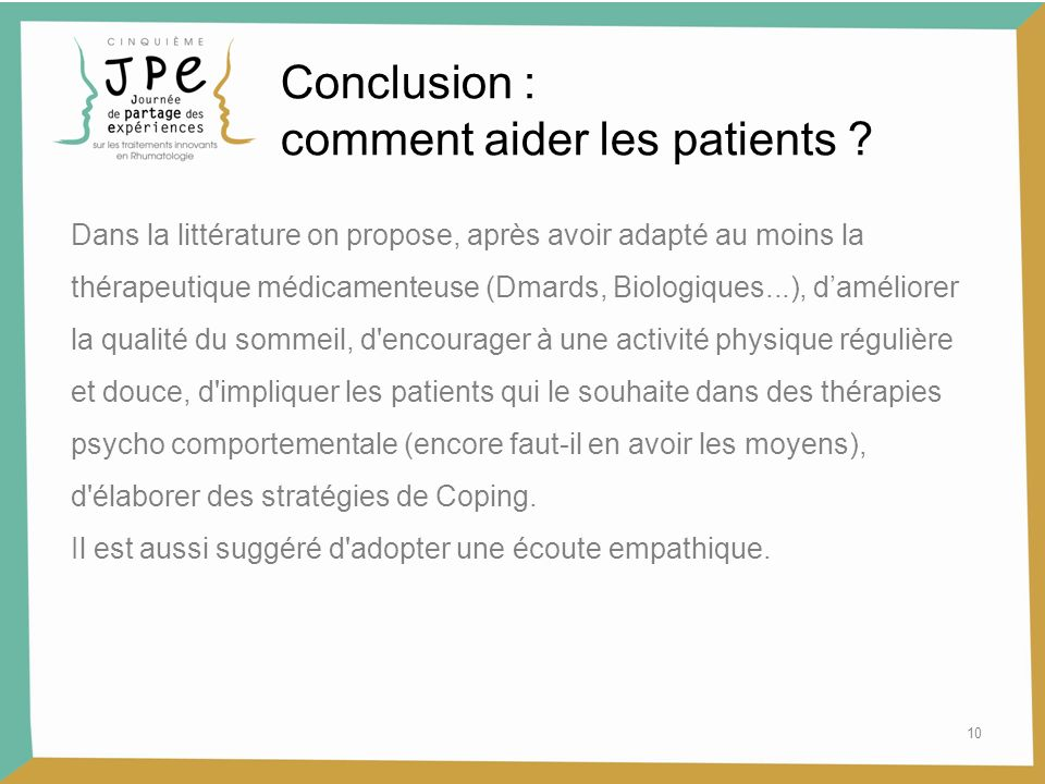 comment aider les patients