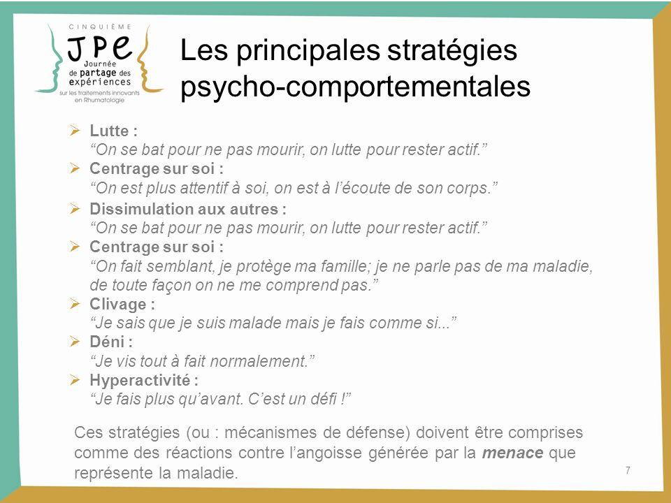 Les principales stratégies psycho-comportementales
