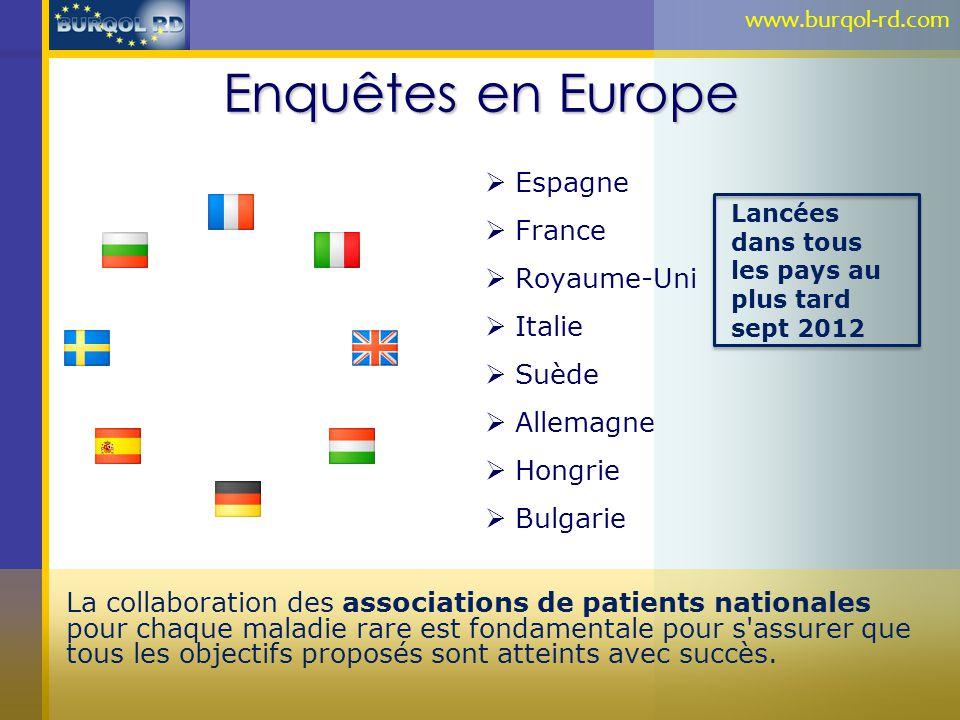 Enquêtes en Europe Espagne France Royaume-Uni Italie Suède Allemagne