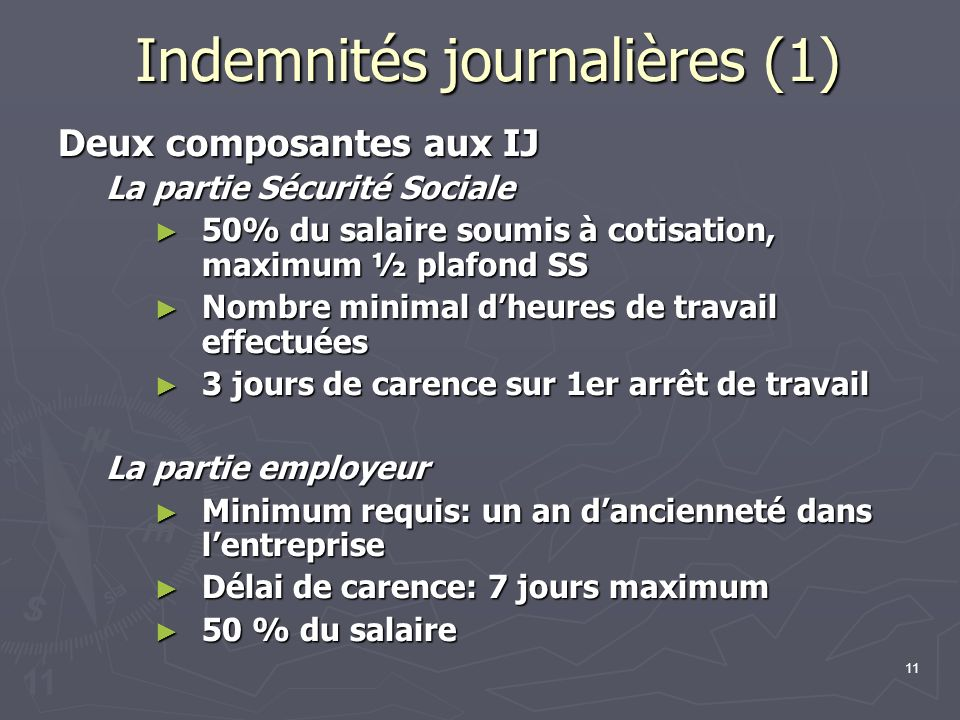 Indemnités journalières (1)