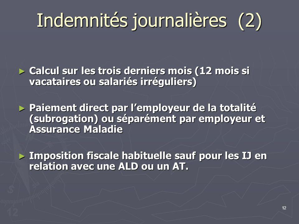 Indemnités journalières (2)