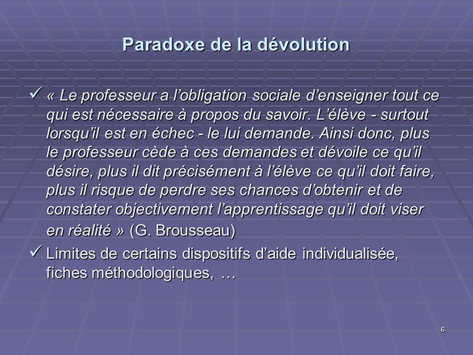 Paradoxe de la dévolution