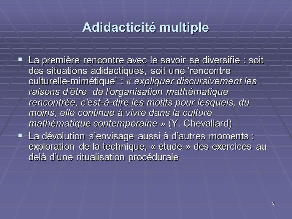 Adidacticité multiple