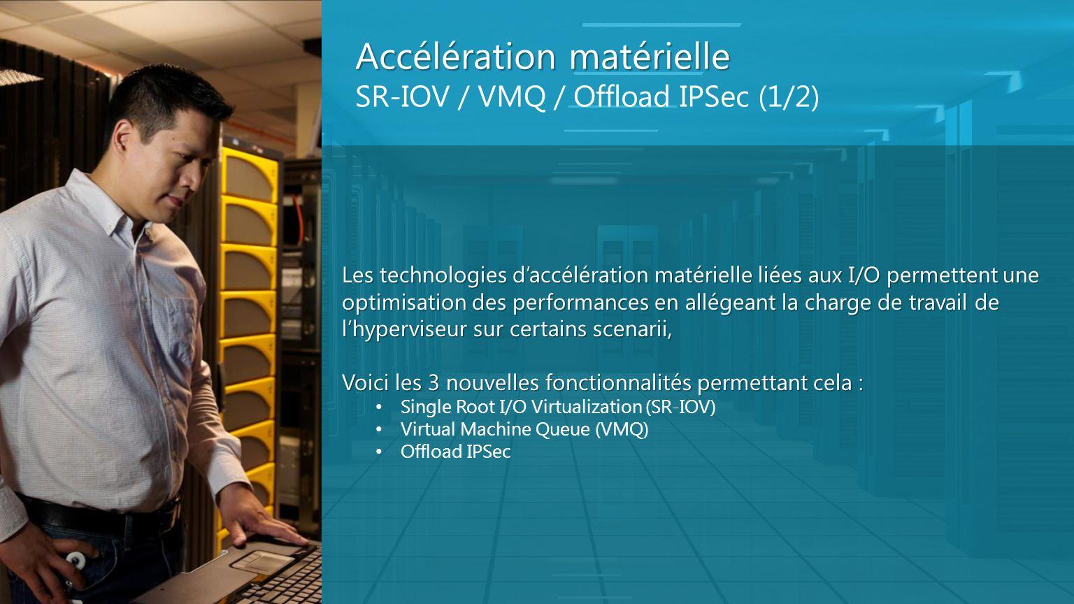 Accélération matérielle SR-IOV / VMQ / Offload IPSec (1/2)