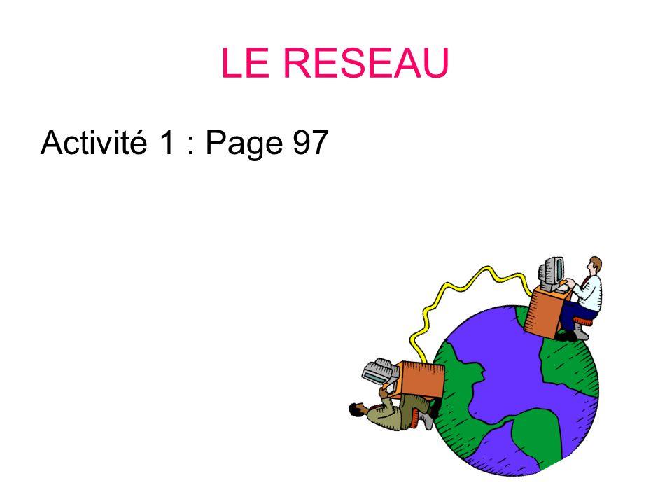 LE RESEAU Activité 1 : Page 97