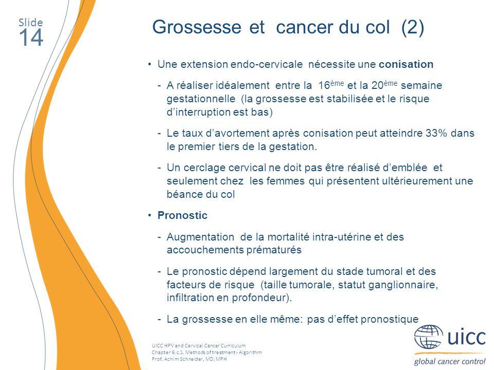 14 Grossesse et cancer du col (2) Slide