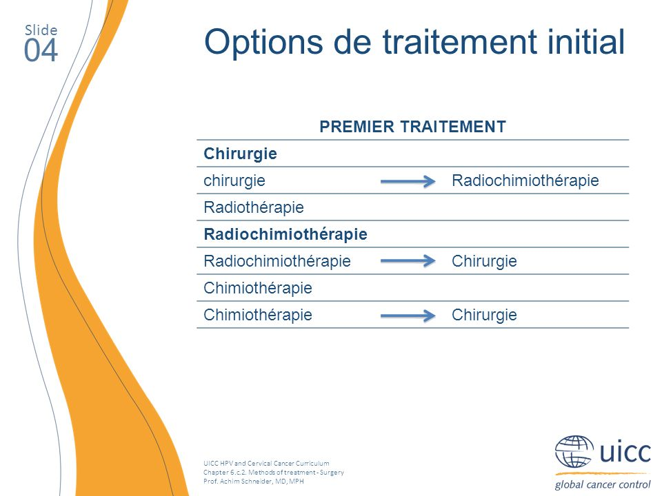 Options de traitement initial